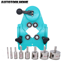 9PCS 4 83mm Drill Guide Vacuum Base Sucker with 5 50mm Diamond Coated Glass Drill Bit Fit Tile Glass Hole Saw Openings Locator