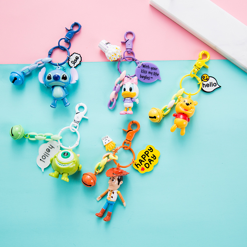 New Arrival Movie Toy Story Key Chain Woody Buzz Lightyear PVC Animal Figure Keychain Women Or Men Keyring Doll Toys image