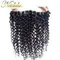 7А Малайзии Вьющиеся Волосы Кружева Фронтальной Закрытие Nadula Девы Волос 13*4 Малайзии Вьющиеся Дева Закрытие Волос (Можно Настроить)