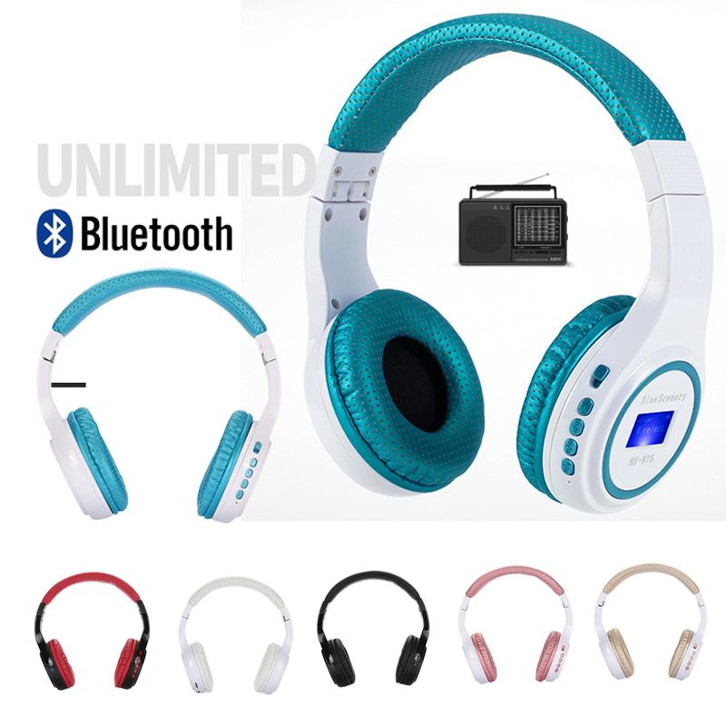 Amzdeal Portable Styling Wireless Headphone N75 Display Screen MP3 Noise Cancelling Bluetooth Headset Earphone with Microphone new style portable wireless bluetooth foldable headphone noise cancelling headset