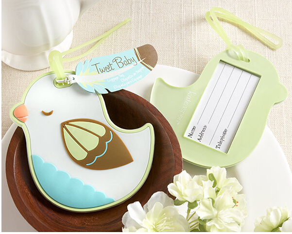 Free shipping wedding favor baby shower party gift-Tweet Baby Baby Bird Luggage Tag wedding Favor and giveaways 100pcs/lot