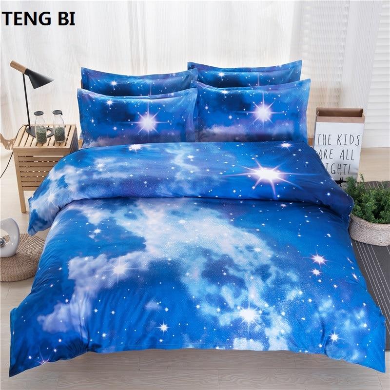 Menakjubkan Hot Galaxy 3D Bedding Set Dekat dengan Galaxy Wujudkan - Tekstil rumah