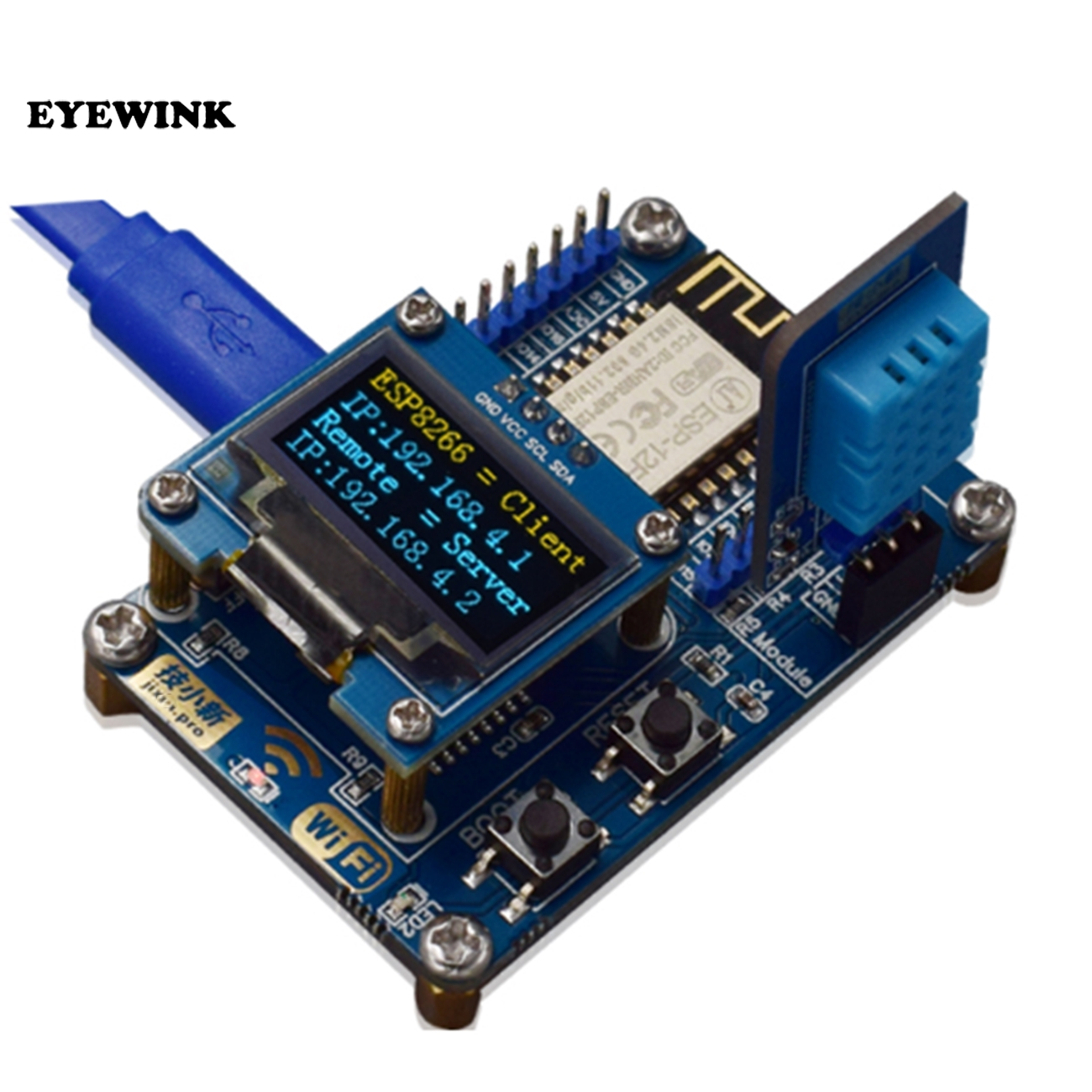 Minimum system wifi module Iot development board ESP8266 SDK programming  OLED DHT11 humiture sensor module ESP-12F