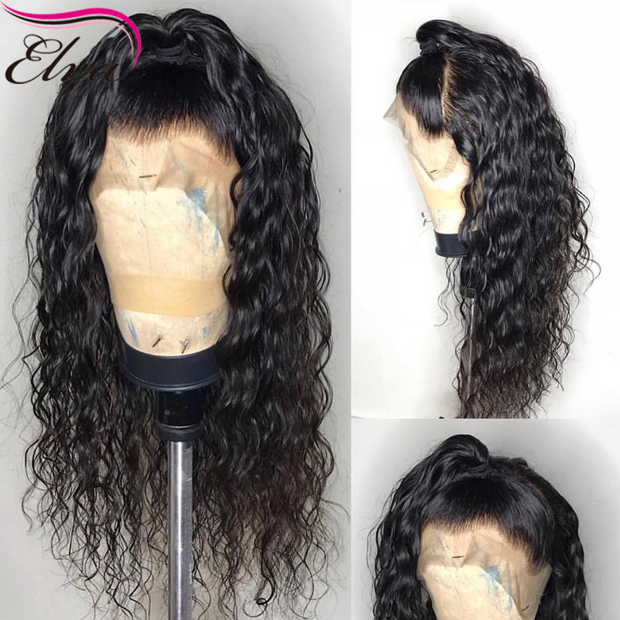 Natural Wave Silk Base Wigs Elva Lace Front Human Hair Wigs Pre Plucked Brazilian Remy Hair