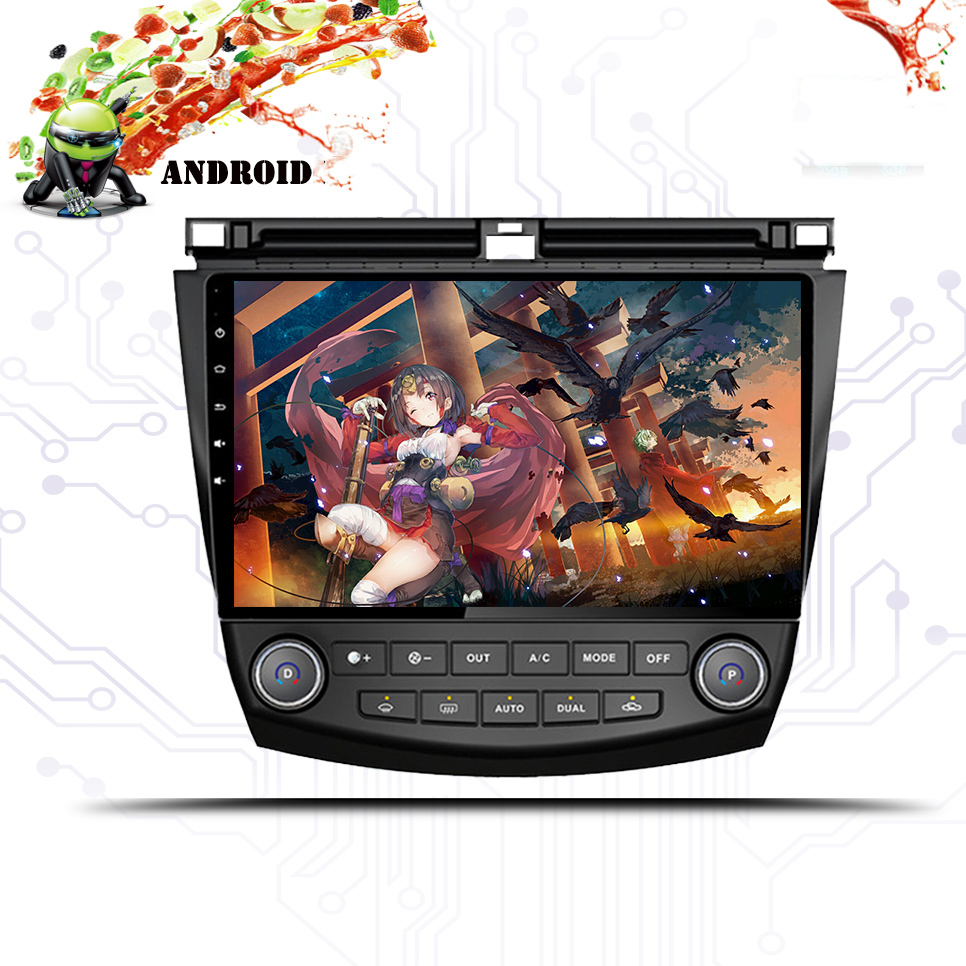 Android 9.0 car dvd 1024*600 gps multimedia player For Honda Accord 7 2003-2007 Auto car dvd navigation raido video audio player