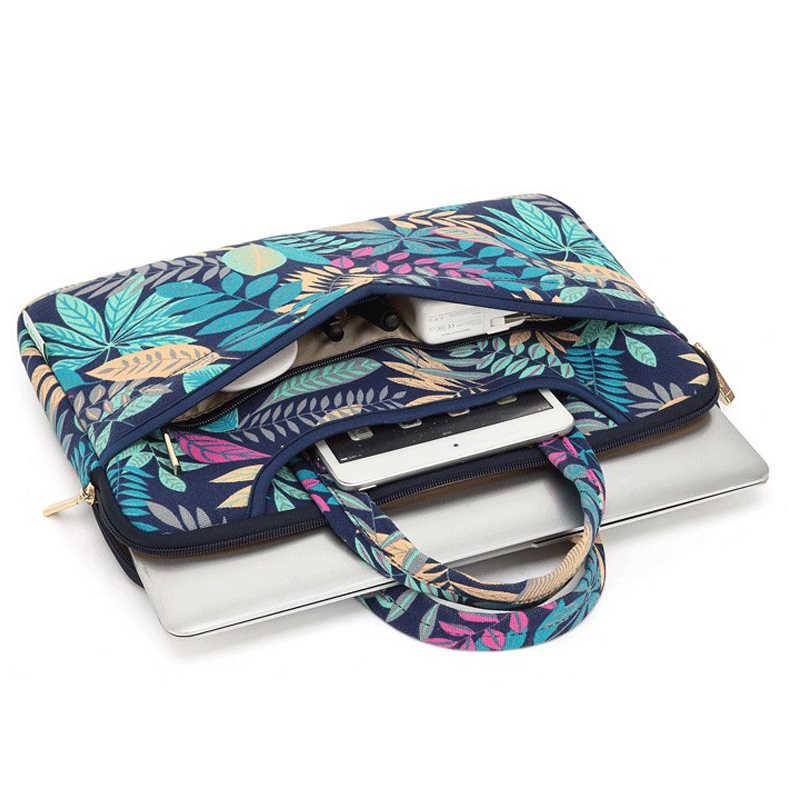 Холщовая Сумочка с печатными рисунками сумка для ноутбука 15,6 Для Macbook Air 13 Pro 11 12 14 15 чехол для Xiaomi samsung Asus lenovo Dell чехол