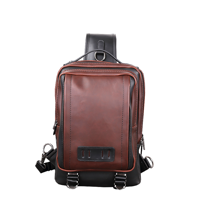 Men Messenger Shoulder Bags Crazy Horse Leather Brown Women Casual Flap Sling Bags Travel Back Pack