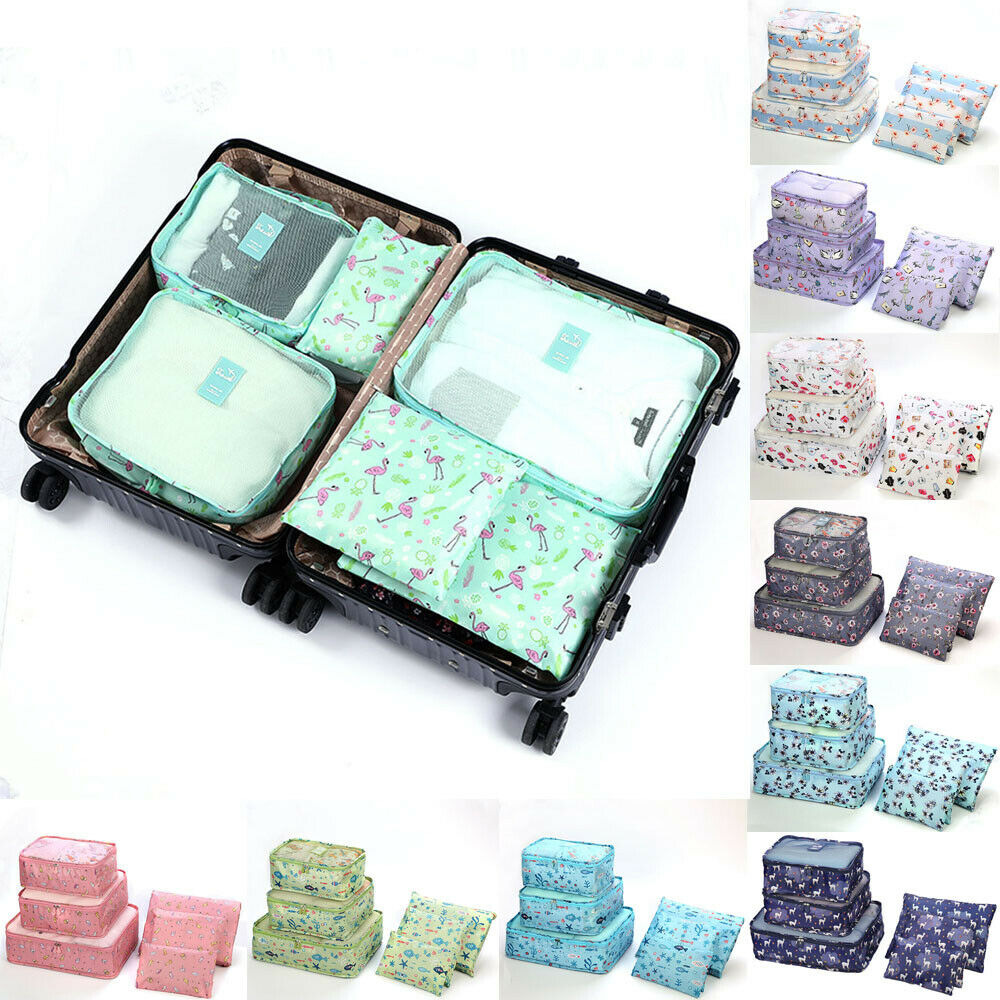 Bag Packing Luggage-Organizer Cube-Storage Travel Waterproof Floral-Printed Nylon Hot