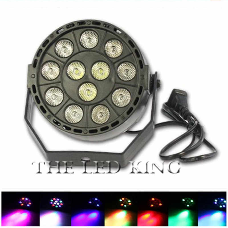 LED Stage Lights Marygel 12 Led Par Lights RGBW DMX Color Mixing Stage Up Lighting