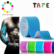 Taping Athletic Kinesiology Tape 5m x 5cm Elastic Adhesive Strain Injury muscle Sticker Muscle Bandage Sport Roll Cotton