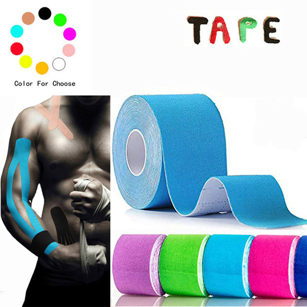 Taping Athletic Kinesiology Tape 5m x 5cm Elastic Adhesive Strain <font><b>Injury</b></font> muscle Sticker Muscle Bandage <font><b>Sport</b></font> Roll Cotton image