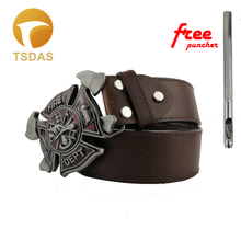 1PCS Fashion 3D FIRE FIGHTER belt buckle Suitable 3.8-4cm Wide Belt 92*63mm Metal Men Jeans accessories