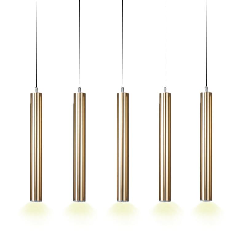 Pendant light LED lights Single Lamp Modern Long Cylinder Bar Design Luxury Glossy Gold Aluminium Dining room Bar New автоинструменты new design autocom cdp 2014 2 3in1 led ds150