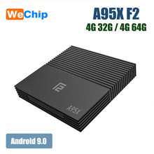 A95XF2 Wechip Smart TV Box Android 9.0 S905X2 lecteur multimédia 42 GB 64 GB BT 4.2 2.4G/5G Wifi 100 M LAN H.265 Support 4 K HD(China)