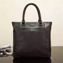 ROCOHANTI High Quality Men's Classic Top Cow Genuine Leather Business Handbag Briefcase Shoulder Tote Bag