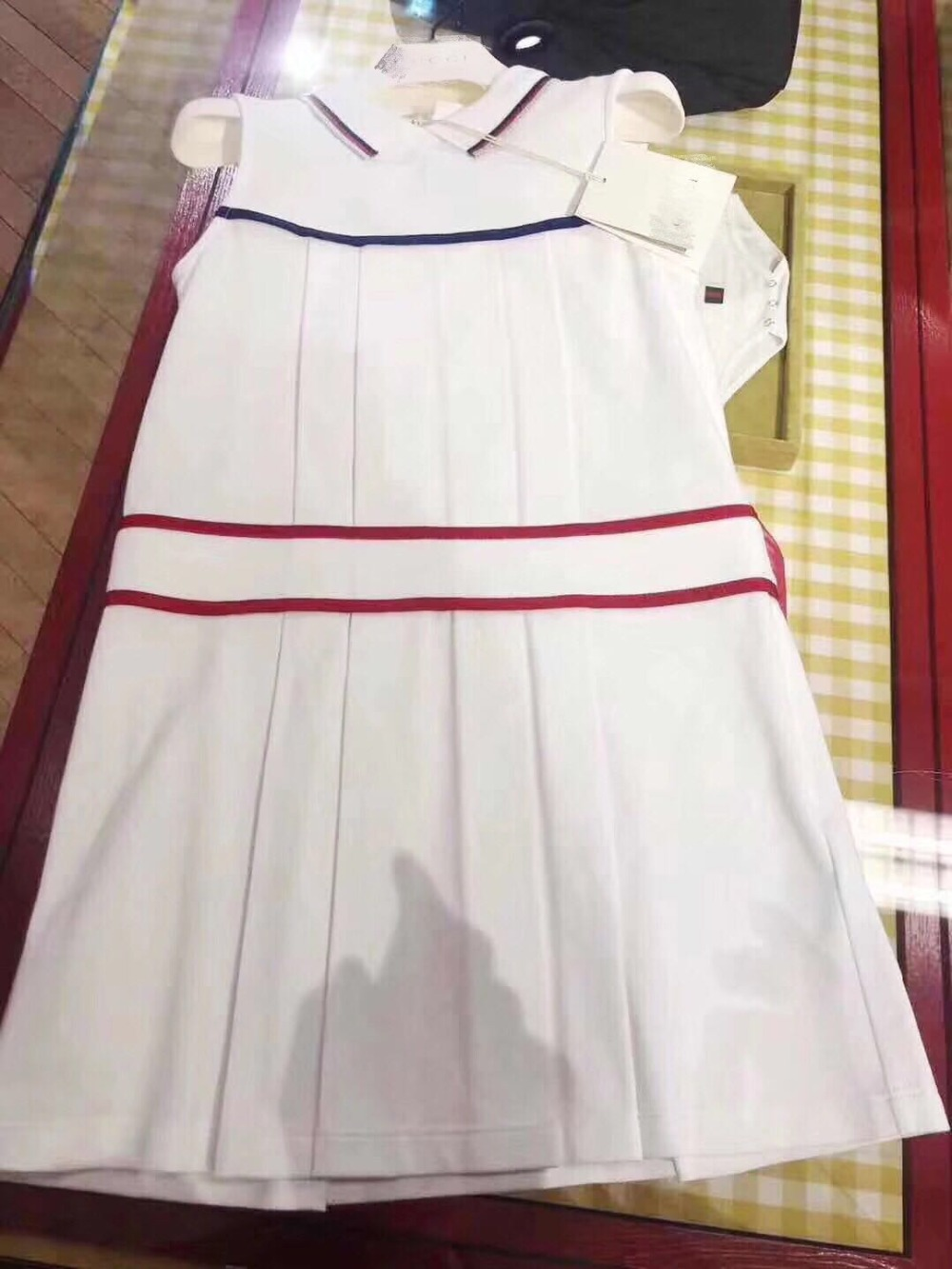 2019 New Summer Fashion Solid White Polocolar Dress Collage School Style BabyGirls Dress Boutique For Girls Clothing Pretticoat