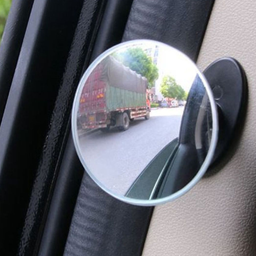2Pcs 360 Degree Convex Blind Spot Mirror Frameless Ultrathin Wide Angle Round For Parking Rear View Mirror For Car Accessories