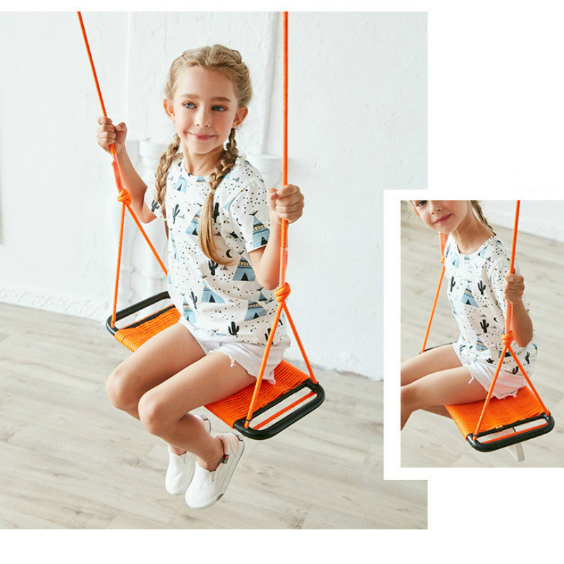 High Quality Childrens Swings Indoor Hanging Chair Outdoor Swing Square Hand-woven Swing Children Leisure Toy Outdoor FurnitureHigh Quality Childrens Swings Indoor Hanging Chair Outdoor Swing Square Hand-woven Swing Children Leisure Toy Outdoor Furniture
