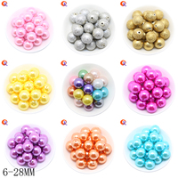 Fashion Bead Jewelry 6 28MM Choose Color And Size ABS Fake Pearl Beads For Handmade Jewelry