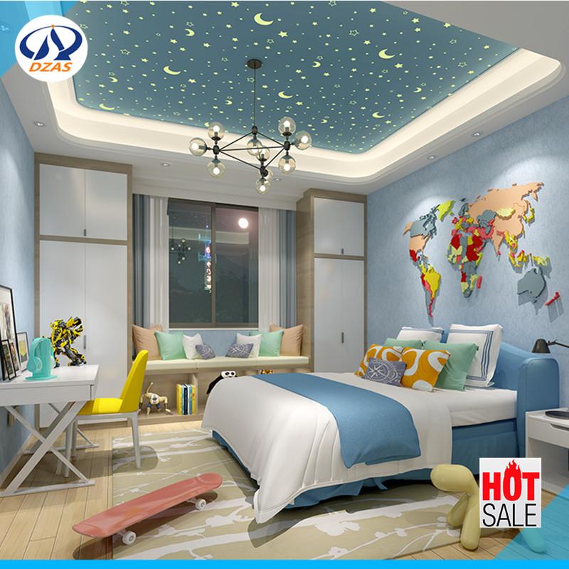 US $40.99 |Kinderzimmer jungen und mädchen warme sterne fluoreszierende 3D  stereo DZAS LQ tapete-in Tapeten aus Heimwerkerbedarf bei AliExpress