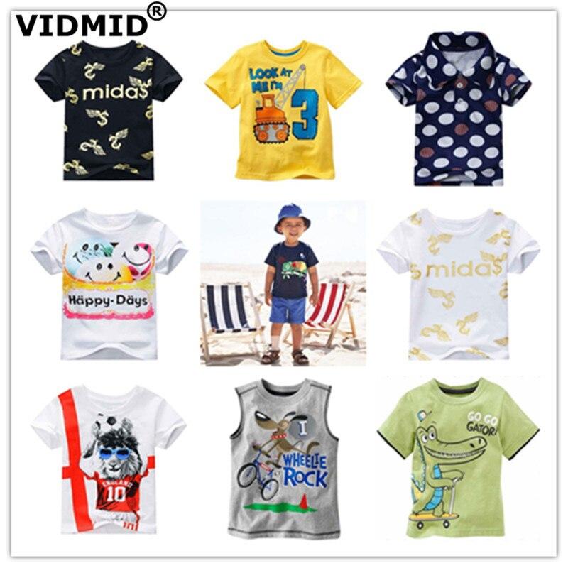 VIDMID Boys Clothing Tops Short-Sleeve Kids Cotton Children's Casual Tees