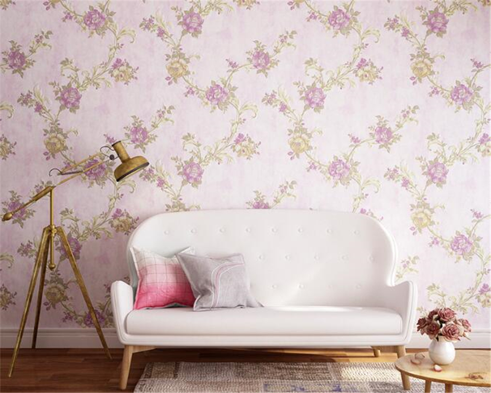 beibehang Retro American Village Wall paper Nonwoven Sanitary Garden furniture bedroom living room sofa background 3d wallpaper