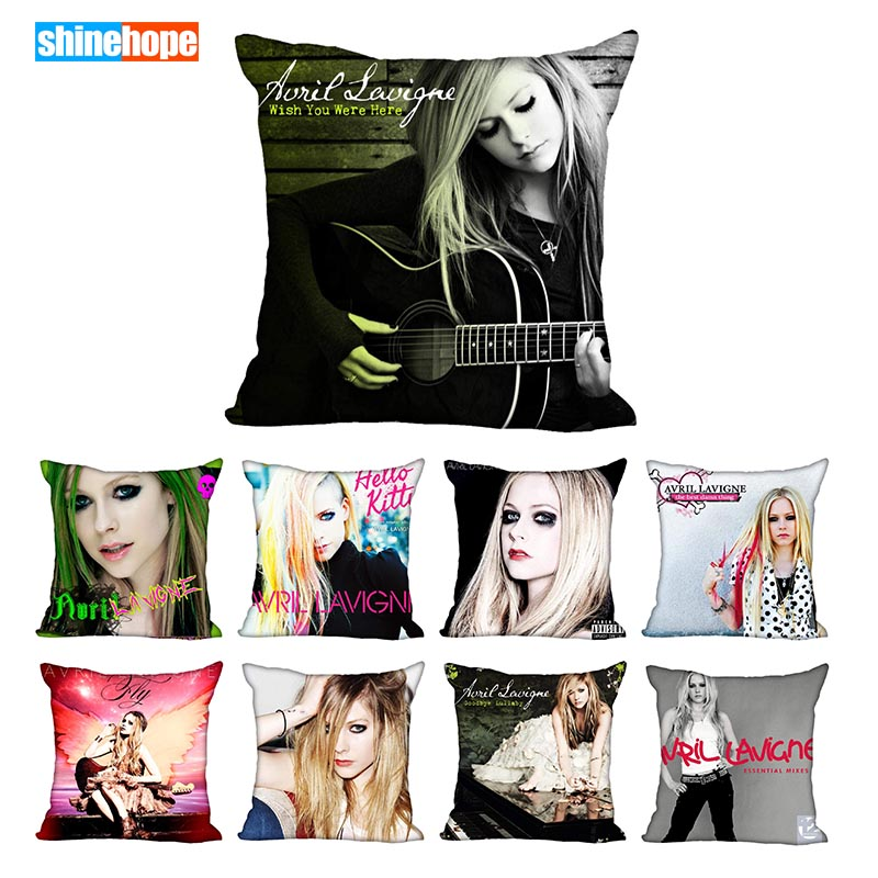 Avril Lavigne Pillowcase For Living Room Pillow Cover 45X45cm,40X40cm(one Sides) Pillow Case Modern Home Decorative