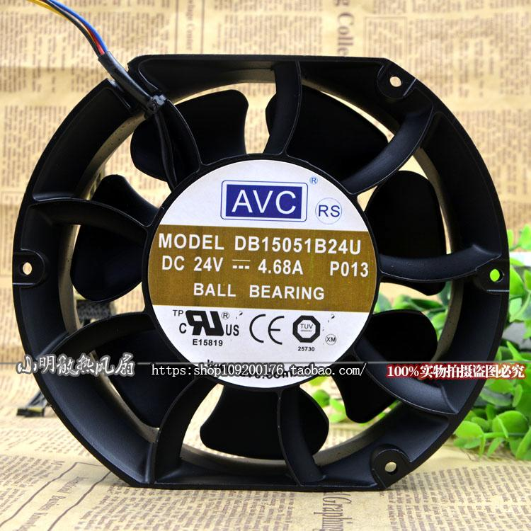 New original DB15051B24U 15 * 17cm 24V 4.68A 17251 high volume server fan new original dc24v 1 46a 5920vl 05w b60 17251 17cm cm inverter fan