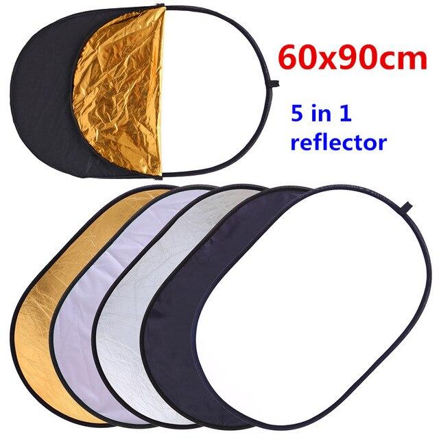CY 60x90 см 24 ''x 35'' 5 в 1 мульти диск рассеиватель для фотостудии Овальный складной свет отражатели рукоять портативный фото диск