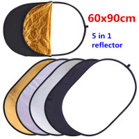 CY 60x90cm 24 X35 5 In 1 Multi Disc Photography Studio Photo Oval Collapsible Light Reflector
