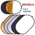 CY 60x90 cm 24 ''x 35'' 5 in 1 Multi Disc Fotografie Studio Photo Oval Inklapbare licht Reflector houvast draagbare photo disc