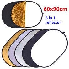 CY 60x90cm 24 x 35 5 in 1 Multi Disc Photography Studio Photo ovale pieghevole riflettore di luce impugnatura portatile photo disc