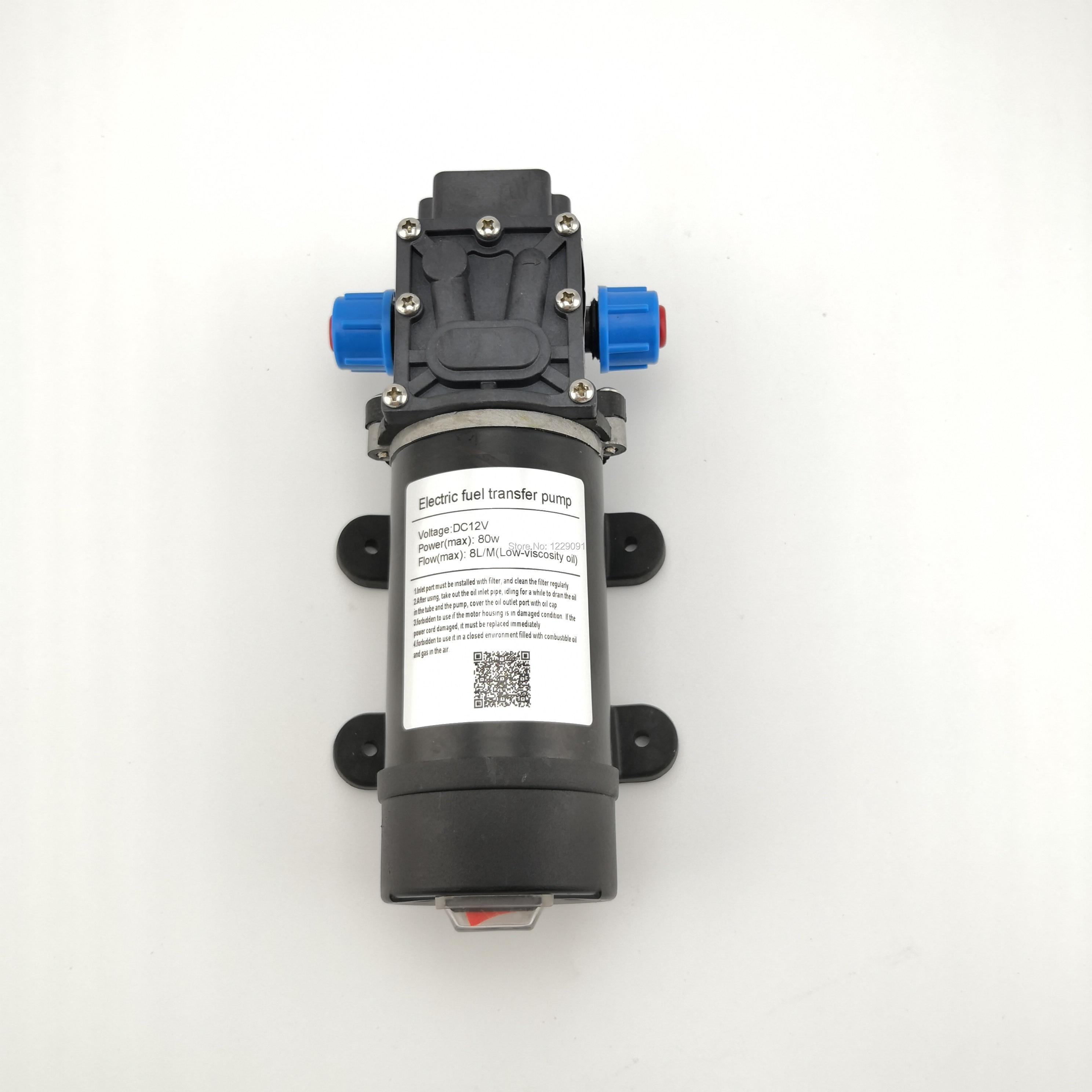 80w 8LPM small electric self priming Fuel Transfer Pump 12V and 24V Diesel gasoline kerosene Oil Transfer Refueling