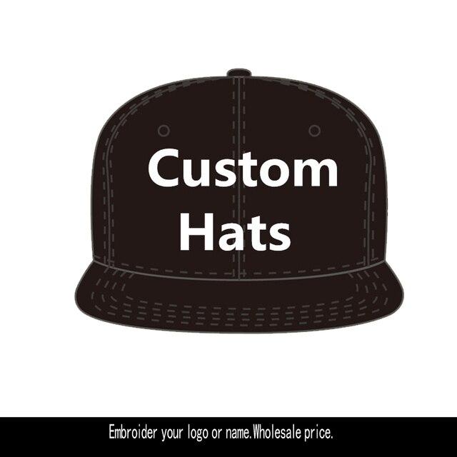 Custom Embroider Logo Company Team Hat for Girls Boys Cuatomized Cartoon  Name Snapback Men Women Sports 174ad2273f2