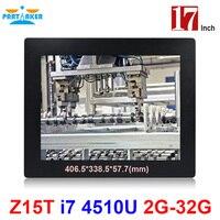 Deelgenoot Elite Z15T Industriële Paneelgemonteerde Touchscreen met 17 Inch Made-In-China 5 Wire Resistive Touch Screen Intel Core I7