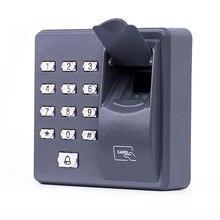 Control de Acceso de huellas dactilares controlador de puerta individual independiente más barato teclado independiente dedo + tarjeta RFID X6 Entrada de puerta