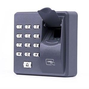 Image 1 - Parmak İzi Erişim Kontrolü Bağımsız Tek Kapı Denetleyici En Ucuz Bağımsız Tuş Takımı Parmak + RFID Kart X6 Kapı Giriş