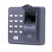 指紋アクセス制御スタンドアロンシングルドアコントローラ格安スタンドアロンキーパッドフィンガー + RFID カード X6 ドアエントリー
