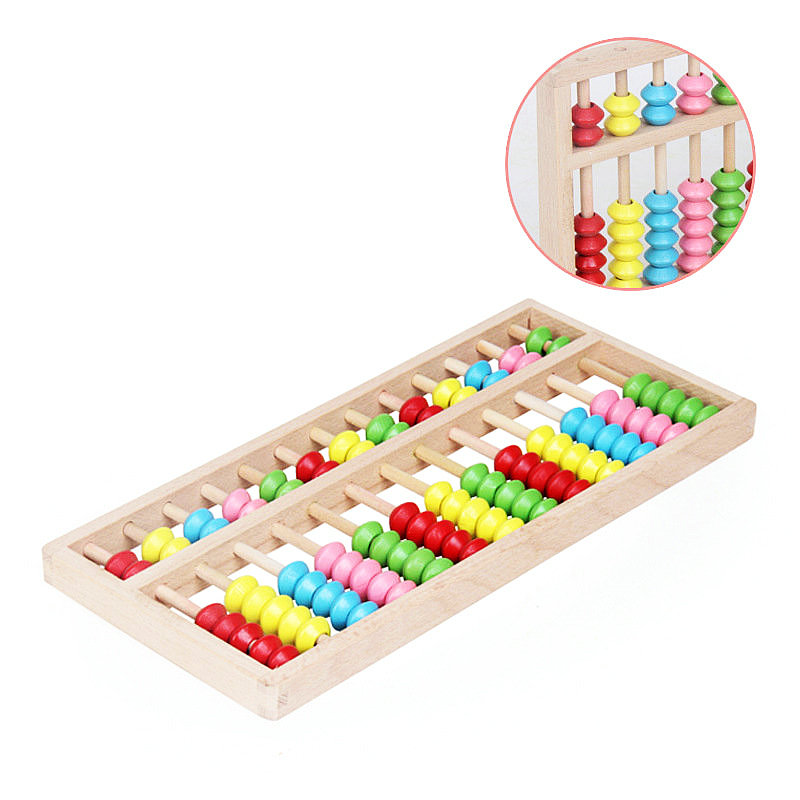 Free shipping wooden Kids Classic 10/13 stalls Abacus Mathematics ...