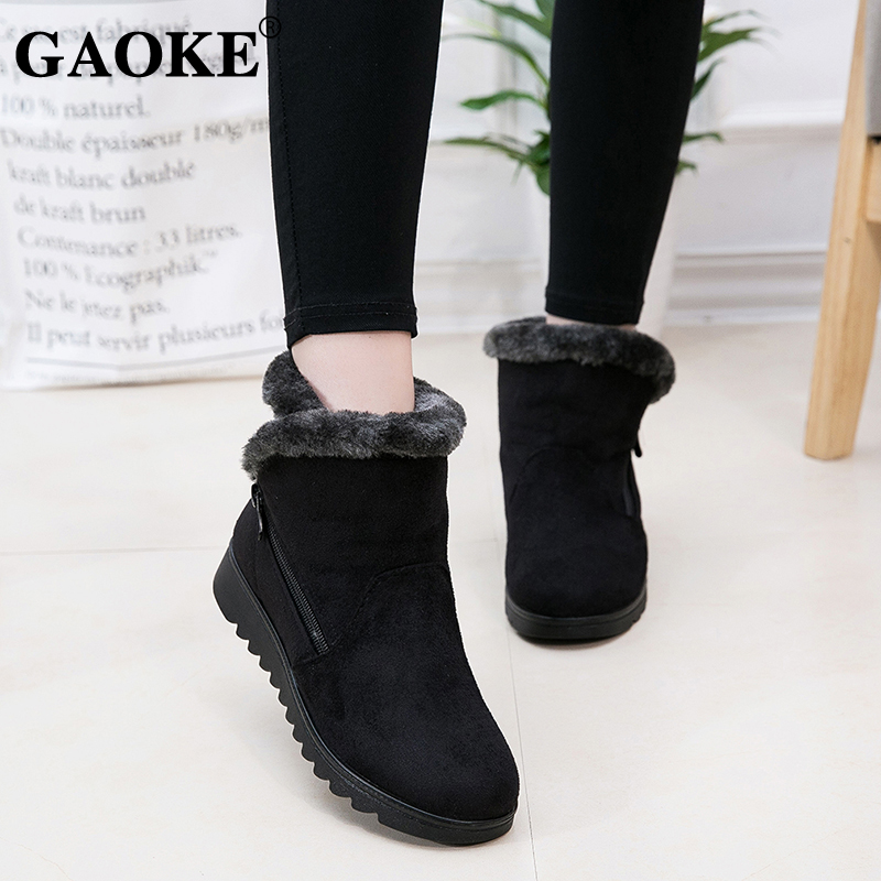 Woman Shoes Woman Winter Snow Boots Warm Ankle Boots Platform Rubber Female Boots Winter Snow Footwear Lady Low Heel Shoes