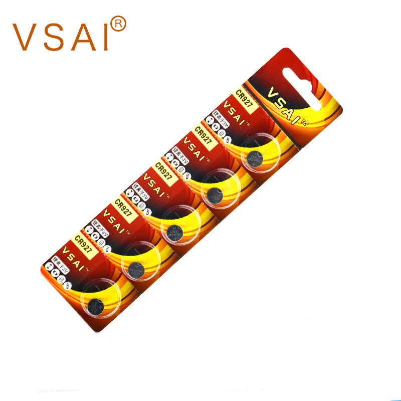 New VSAI 5pcs/pack CR927 Lithium Button Cell Coin Batteries 3V For Pen, Alarm, Watches