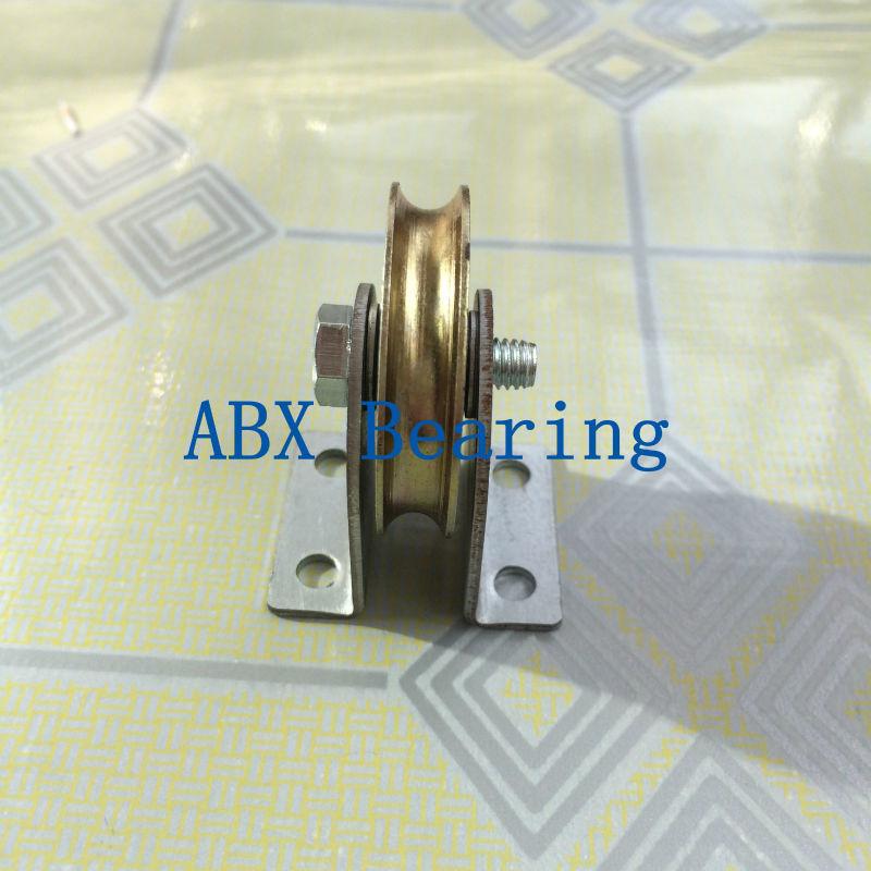 купить high quality 6mm U Groove steel roller bearings 0638UU 6.5*36.5*9.5 mm bearing 0638UU with houseing and screw по цене 341.24 рублей
