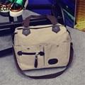 2016 large bag women  Messenger Vintage Style Canvas Pocket Satchel Shoulder Crossbody Casual Bag gift wholesale