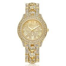 Rhinestone Reloj de Señoras Relojes de Las Mujeres 2017 de la Marca de Lujo de Oro de Diamante Vestido Reloj Reloj relojes mujer relogio feminino