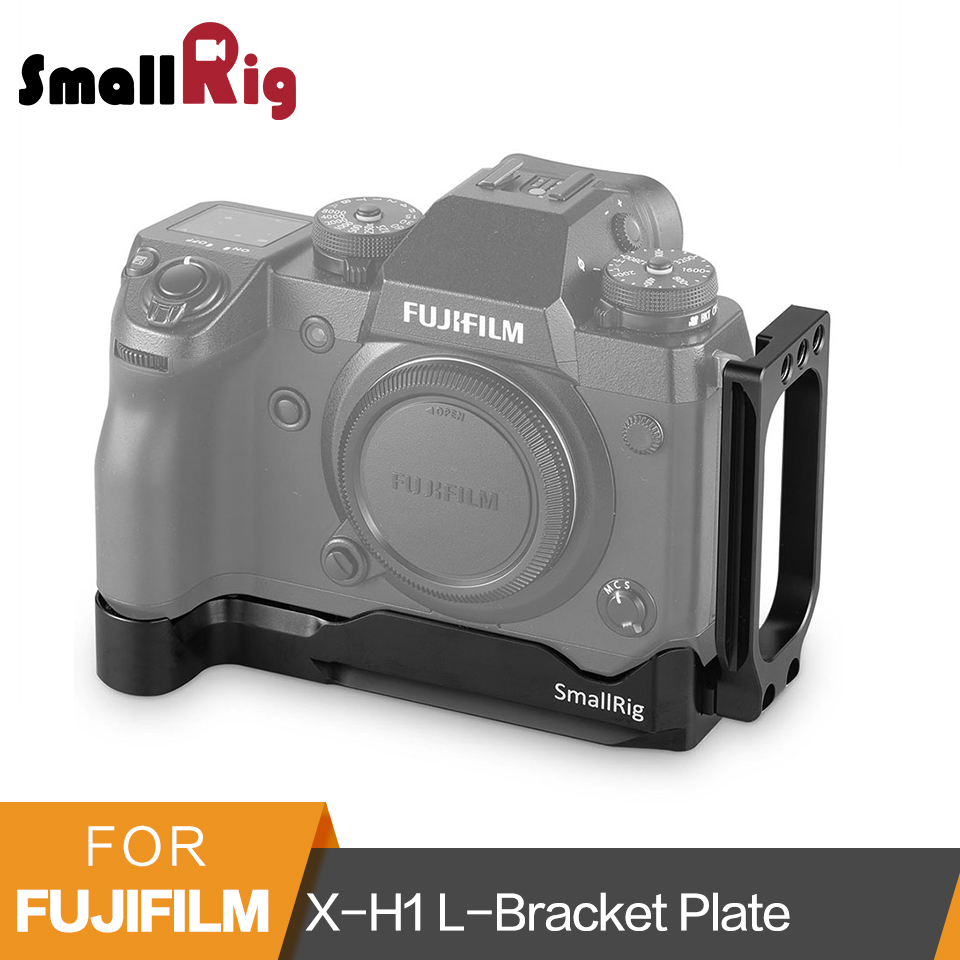 лучшая цена SmallRig X-H1 L-Bracket for Fujifilm X-H1 Arca-Swiss Standard Quick Release L Plate Mounting Plate With 1/4 Thread Holes-2178