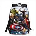 2016 de alta calidad de super hero Avengers bolsas Schoolbag, niños Mochila Colegio Viento niños Mochila Mochilas escolares Para Adolescentes