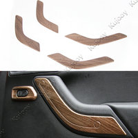 Wooden Grain ABS Car Interior Door Handle Cover Trim Frame Sticker Car Styling Decor For Jeep