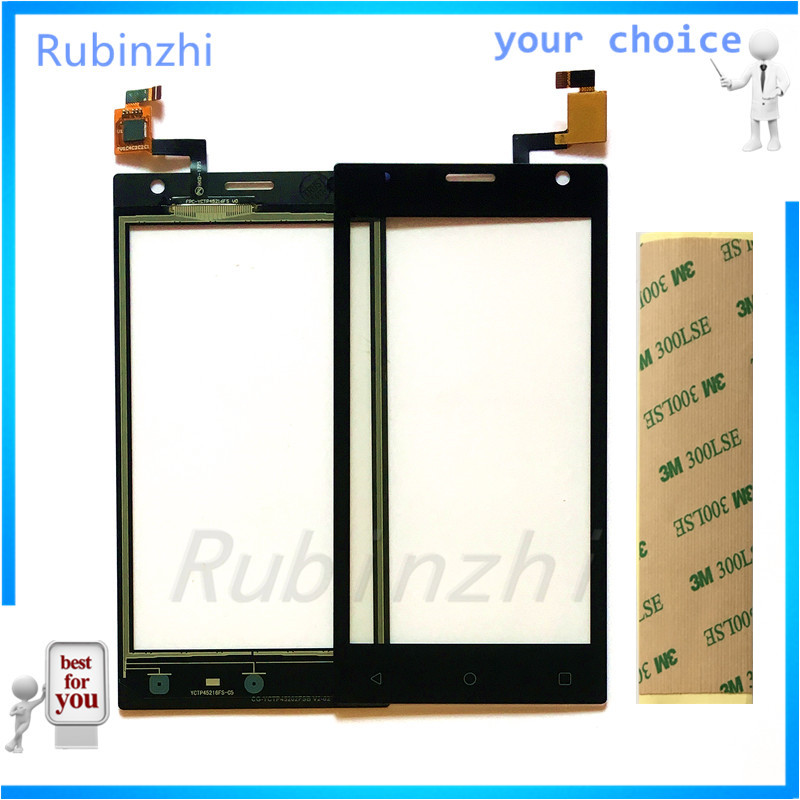 RUBINZHI Phone Touch Panel Glass For <font><b>Prestigio</b></font> Wize O3 PSP3458 PSP <font><b>3458</b></font> DUO Touch Screen Digitizer Sensor Touchscreen +tape image