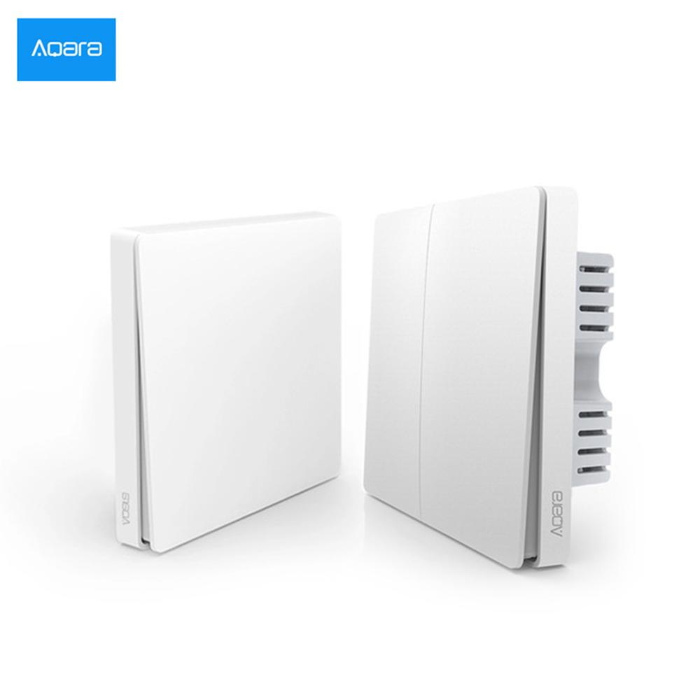 New Xiaomi Aqara Smart Home ZiGBee Wireless Key&Neutral Wall Switch Light Control Via Smarphone APP Remote By Mijia APP