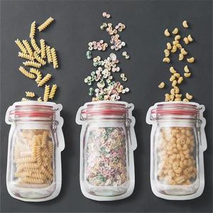 Image 2 - 3or4 Pcs/set Composite Material Food Preservation Storage Bag Biscuit Snack Food Supplement Food Zipper Seal Small Ware